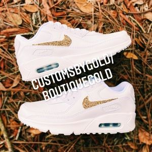 GOLD Blinged out custom Nike air max